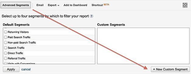 Create Custom Segment in Google Analytics