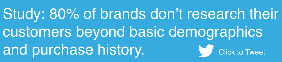Brands don't research their customers