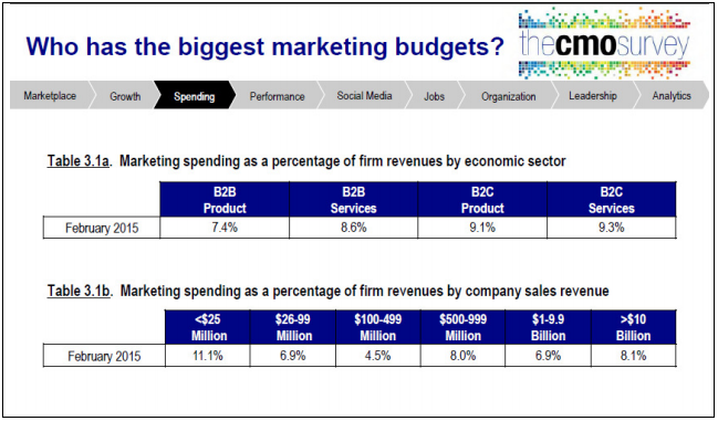 who has the biggest marketing budgets?