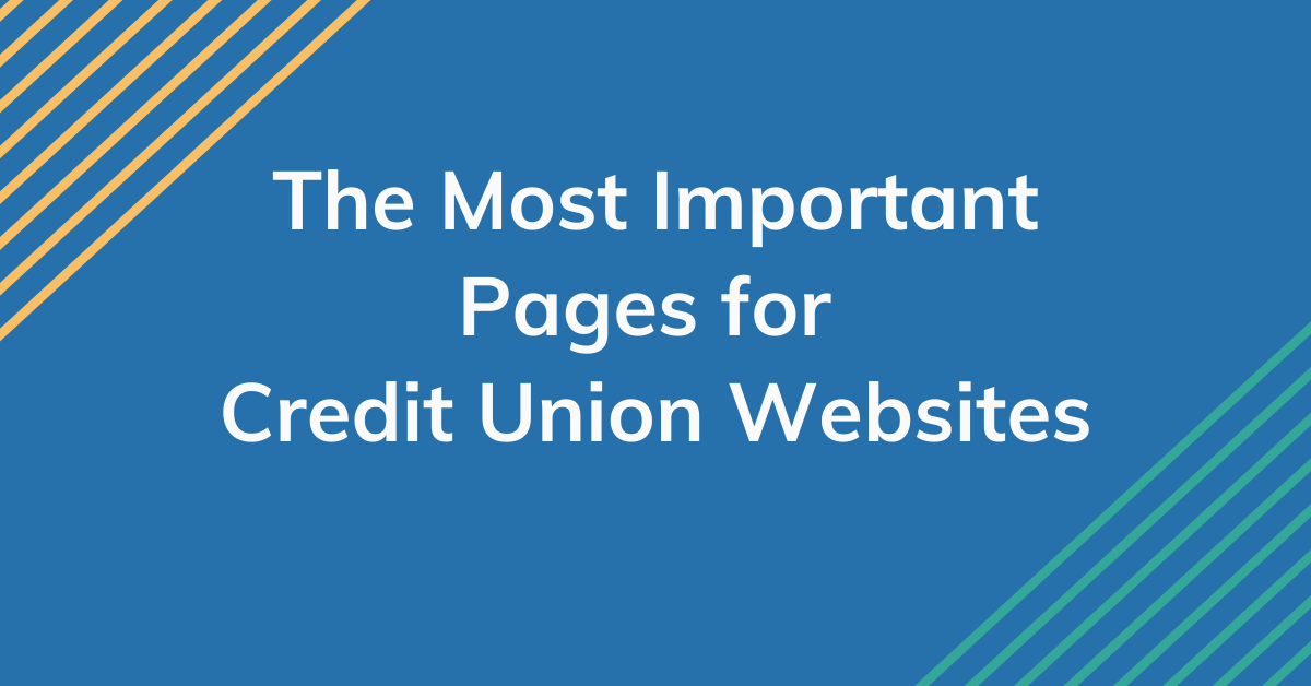 """Blue banner with the text """"The Most Important Pages for Credit Union Websites"""""""