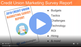 Credit union marketing survey webinar image