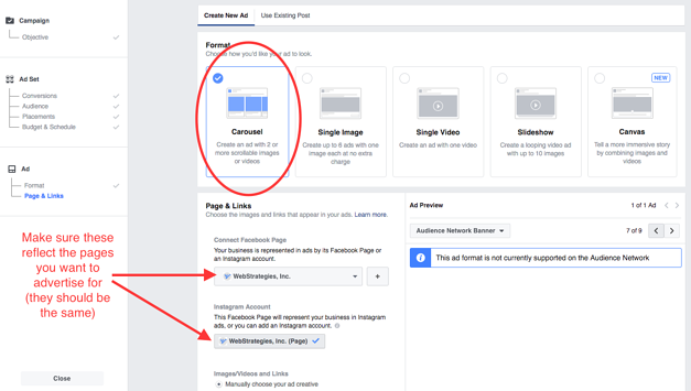How To Create, Customize & Edit A Facebook Carousel Ad