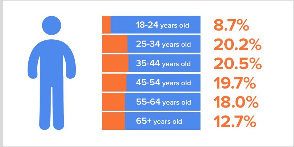 website traffic age distribution