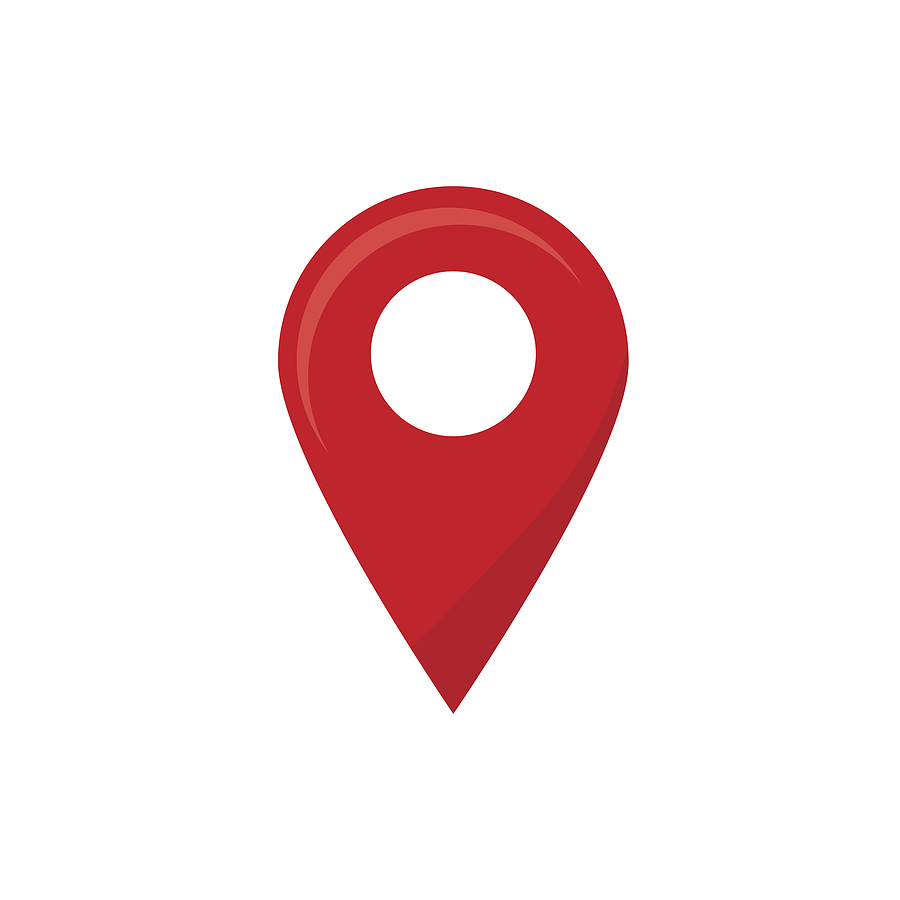 Red pin marking a location